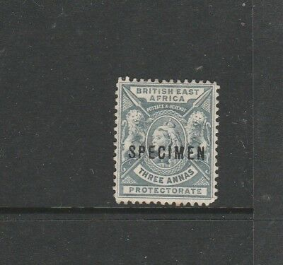 British east africa 1896/1901 3As Optd Specimen MM SG 69s