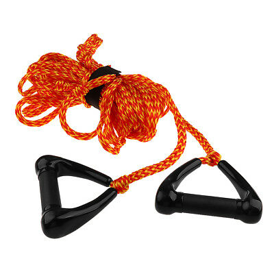 Water Skiing Tow Rope Wakeboard Wakeboarding Lines 1 Section 75 ft Orange