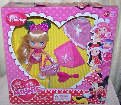 Disney  Love Minnie Mouse Doll with Blonde Hair & Beach Outfit New