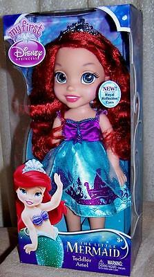 """Disney The Little Mermaid Toddler ARIEL 13"""" Doll with Royal Reflection Eyes New"""