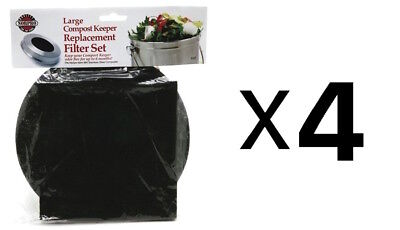 Norpro REPLACEMENT FILTER Standard Compost Pail Charcoal 2 Piece Set (4-Pack)