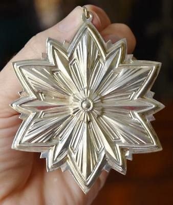 Lovely Circa 1993 Gorham 24Th Edition Sterling Silver Snowflake
