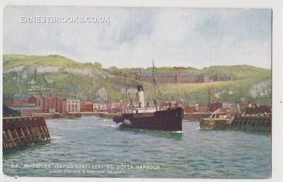 Early Postcard, Ships,  S S Maidstone, Leaving Dover Harbour