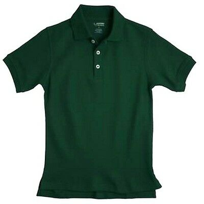 Hunter Green Polo Shirt 5 School Uniforms S/S French Toast Unisex Cotton Blend