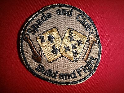 US 25th Naval Mobile Construction Battalion NMCB-25 SPADE And CLUB Beret Patch