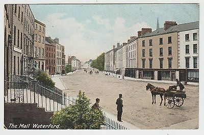 The Mall, Waterford:~1905 (Est) Vintage Tinted PPC by Laurence of Dublin, Unused
