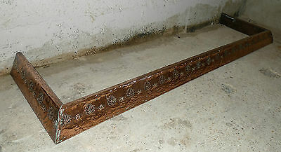 Lovely Vintage Embossed Copper Arts & Crafts Fire Kerb