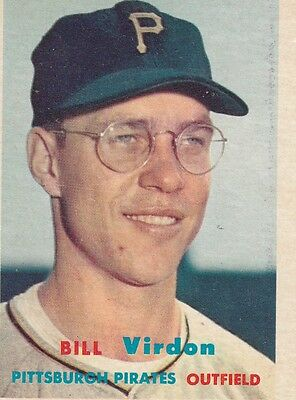 Topps 1957 #110 Bill Virdon-Philadelphia Phillies