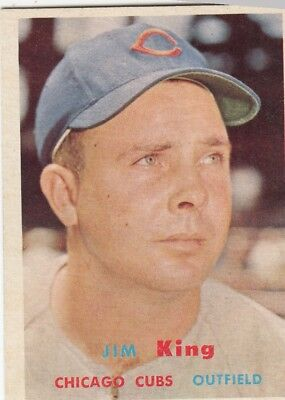 Topps 1957 #186 Jim King-Chicago Cubs