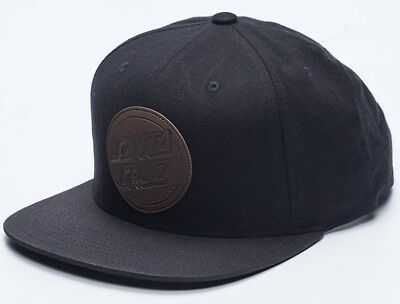 Santa Cruz - Leather Dot Black - Snapback Hat