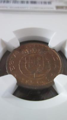 Portuguese India 10 Cents 1961 NGC MS 64 RB
