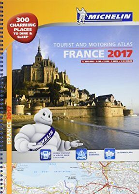 France 2017 atlas - A3 spiral (Tourist & Motoring Atlases)-Michelin