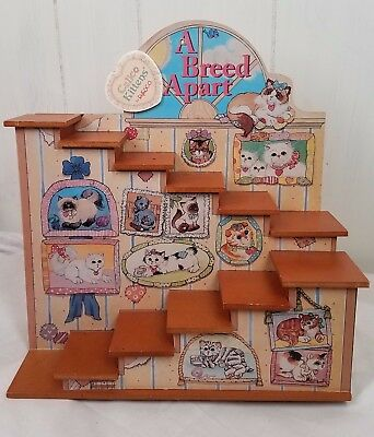 Calico Kittens by Enesco A Breed Apart wood Display Steps Shelves 1997