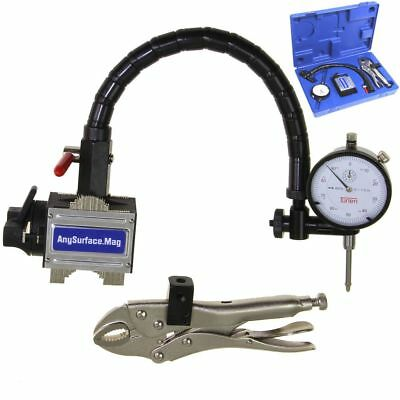 "Dial Indicator 1""/.001"" Flexible Arm Any Surface Magnetic Base Grip Locking Vise"