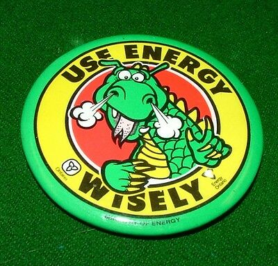 USE ENERGY WISELY Vintage Metal Pinback, Pin, Badge, Logo, Button, Canada