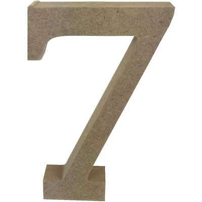 Smooth MDF Blank Shape Serif Number 7 499993366581