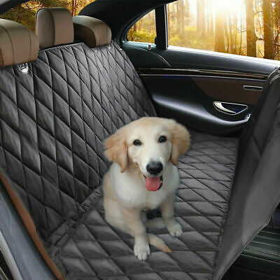 Waterproof Pet Car Seat Cover Hammock Nonslip Rubber Backing Anchor Trucks SUVs