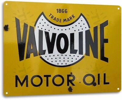 Valvoline Oil 1866 Vintage Retro Tin Metal Sign