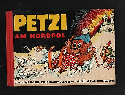 Petzi at North Pole HC Landscape Format Carlsen Publisher 50er Years