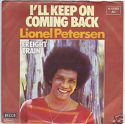 """""""7"""" - LIONEL PETERSEN - I`ll keep on coming back"""