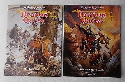 TSR 1992 ~ Dungeons and Dragons DRAGON QUEST Adventure Book & Game Rule Book