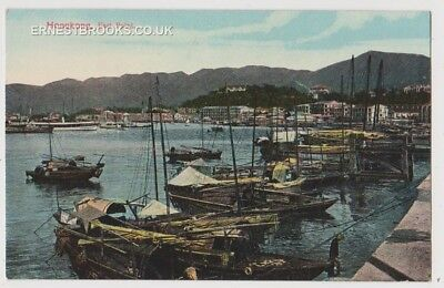 Early Postcard, China, Hong Kong, East Point, Old Boats, Nice View,