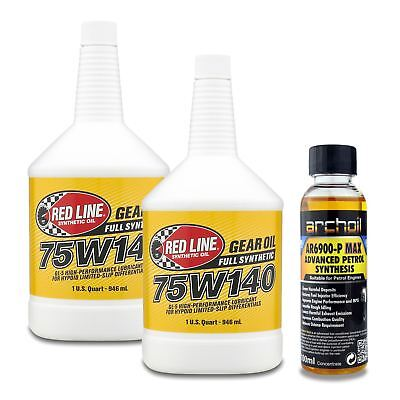 2 x Red Line Hypoid Limited Slip Differential 75W140 Gear Oil - 946ml