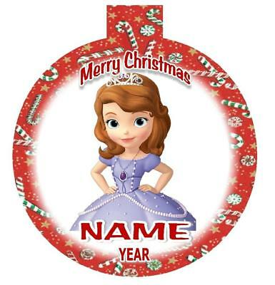SOFIA the FIRST Personalized Christmas Ornament Any Name/Message FREE Ship