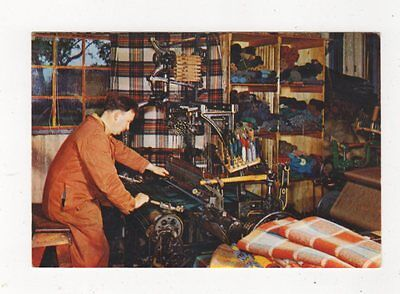 Weaving At Brora Sutherland Postcard 722a