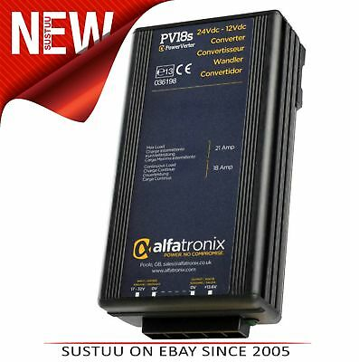 Alfatronix PowerVerter PV18S 24VDC to 12VDC Output Converter│Isolated│18A/21A