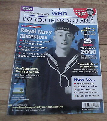BBC WHO DO YOU THINK YOU ARE? Magazine Issue 30 Jan 2010 Royal Navy Ancestors