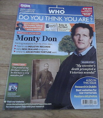 BBC WHO DO YOU THINK YOU ARE? Magazine Issue 38 Sept 2010 Monty Don
