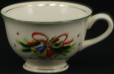 Salem Christmas Eve Green Gold Trim Cup