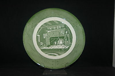 Royal Colonial Homestead Green Dinner Plate