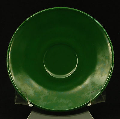 Hazel Atlas Glass Ovide Dark Green Saucer