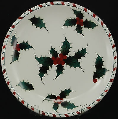 Lefton Holly Candy Cane Luncheon Plate