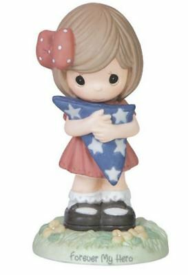Precious Moments Forever My Hero Girl with Folded American Flag Figurine 151033