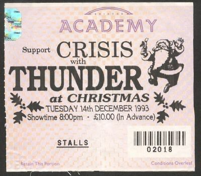 THUNDER  used TICKET BRIXTON ACADEMY 14th December 1993