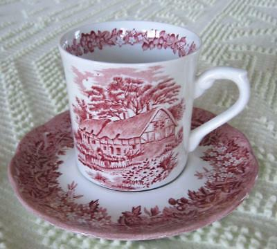 J. & G. Meakin Romantic England Anne Hathaway's Cottage Cup and Saucer England