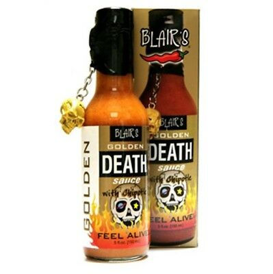 """BLAIR'S GOLDEN DEATH SAUCE WITH CHIPOTLE"" - HOT Chilli Sauce!"