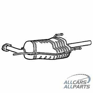 Vauxhall Astra G 1.7DTi 2.0 Dti 98-04 Estate Rear Exhaust & Tail Pipe + Gasket