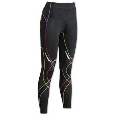 NEW! CW-X Stabilyx Running Women's Tights 125809A-977 Color Black/Rainbow Large
