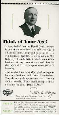 NEWPORT COAL CO ~ 1930 Advertising Campaign Proposal Piece 24