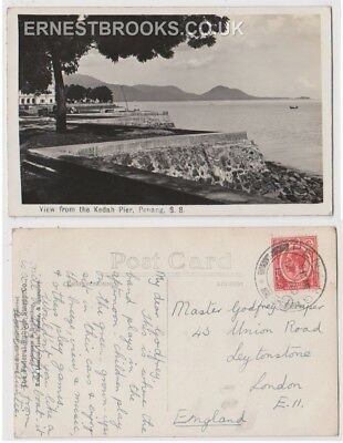 Early Postcard, Malaysia, Penang, View From The Kadah Pier,  1932, RP
