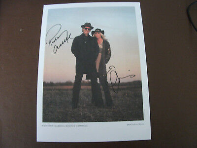Emmylou Harris And Rodney Crowell Signed Photo