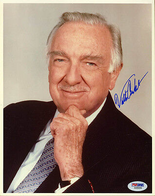 Walter Cronkite SIGNED 8x10 Photo K CBS Evening News Anchor PSA/DNA AUTOGRAPHED
