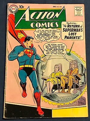 Action Comics #247 Dec 1958 Tough To Find Issue!