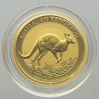 NEW 2017 1/10 OZ AUSTRALIA KANGAROO GOLD COIN UNC in CAPSULE