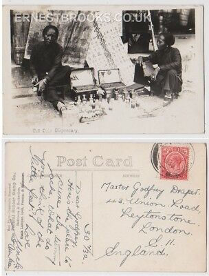 Early Postcard, Malaysia, Penang,  Out Door Dispensary, 1932, RP
