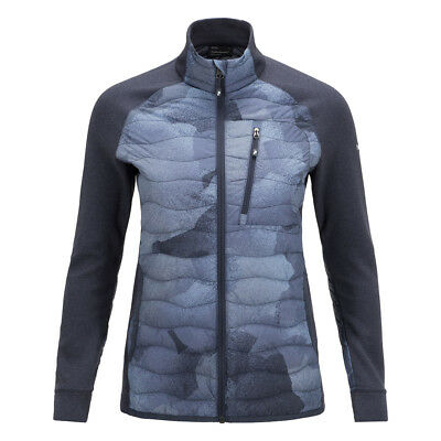 Peak Performance Helium Hybrid Jacket with Duck Down in Blue Print